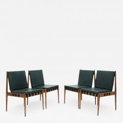 Egon Eiermann Egon Eiermann SE 121 Dining Room Chairs in Dark Stained Beechwood 1960s - 1839524