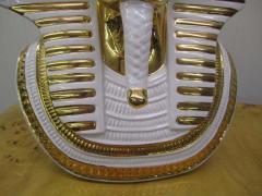 Egyptian King Tut Italian Ceramic Sculpture Bust Hollywood Regency - 1862672