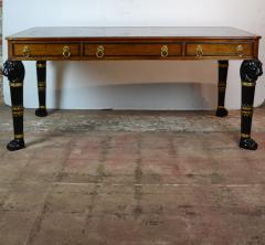 Egyptian Revival Leather Top Desk - 1101711