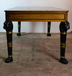 Egyptian Revival Leather Top Desk - 1101719