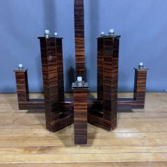 Eight Arm Rosewood Laminate Chandelier - 1319496