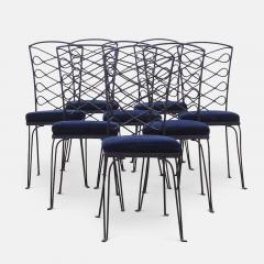 Eight Metal Chairs in the manner of Ren Prou - 1308396