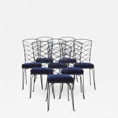 Eight Metal Chairs in the manner of Ren Prou - 1310292