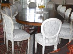 Eighteen Louis XVI Revival Dining Chairs En Peinte - 1464238