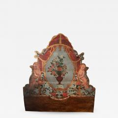 Eighteenth Century painted Catalonia headboard and Posts - 922142