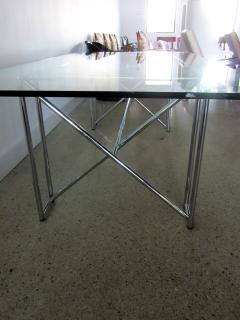 Eileen Gray An American Modern Polished Chrome and Glass X form Table - 1236327