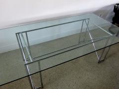 Eileen Gray An American Modern Polished Chrome and Glass X form Table - 1236330