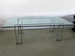 Eileen Gray An American Modern Polished Chrome and Glass X form Table - 1236331