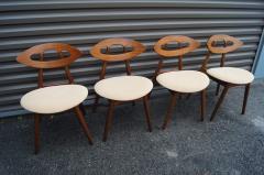Ejvind A Johansson Set of Four Teak Eye Chairs by Ejvind A Johansson for Ivan Gern M belfabrik - 1166155