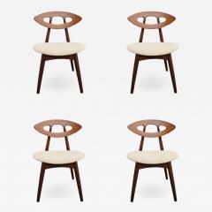 Ejvind A Johansson Set of Four Teak Eye Chairs by Ejvind A Johansson for Ivan Gern M belfabrik - 1171290