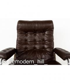 Ekornes Stressless Mid Century Chrome and Leather Lounge Chair and Ottoman - 1810422