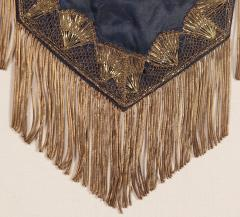 Elaborate Silk Banner with Gilded Text of George Washington - 577658