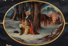 Elaborate Silk Banner with Gilded Text of George Washington - 577660
