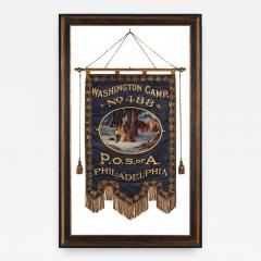 Elaborate Silk Banner with Gilded Text of George Washington - 578270