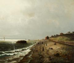 Elbridge Wesley Webber A Day at the Beach Oak Bluffs Martha s Vineyard n d  - 376543