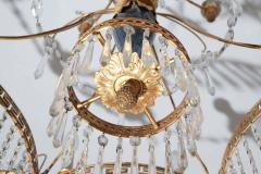 Elegant 19th Century Neoclassical Baltic Crystal and Gilt Bronze Chandelier - 1774922