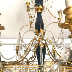 Elegant 19th Century Neoclassical Baltic Crystal and Gilt Bronze Chandelier - 1774933