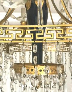 Elegant 19th Century Neoclassical Baltic Crystal and Gilt Bronze Chandelier - 1774936