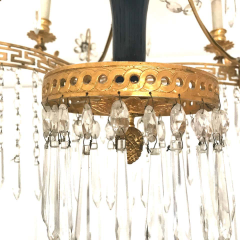 Elegant 19th Century Neoclassical Baltic Crystal and Gilt Bronze Chandelier - 1774939