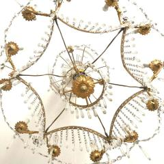 Elegant 19th Century Neoclassical Baltic Crystal and Gilt Bronze Chandelier - 1774948