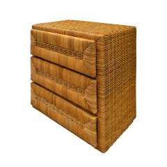 Elegant Chest of Drawers In Rattan 1970s - 1269831