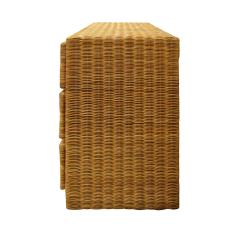 Elegant Chest of Drawers In Rattan 1970s - 1269835