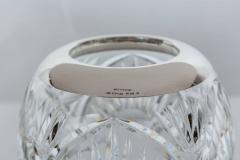 Elegant Cut Crystal and Sterling Silver Vase - 258902