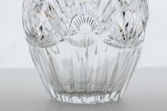 Elegant Cut Crystal and Sterling Silver Vase - 258903