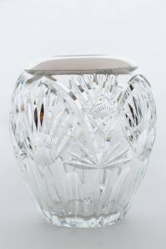 Elegant Cut Crystal and Sterling Silver Vase - 258905