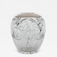 Elegant Cut Crystal and Sterling Silver Vase - 259870