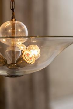 Elegant Glass and Brass Pendant - 1453021