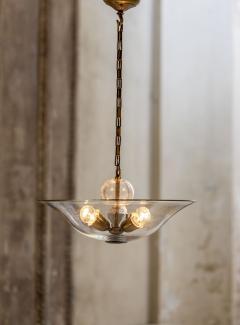 Elegant Glass and Brass Pendant - 1453023
