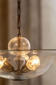 Elegant Glass and Brass Pendant - 1453024