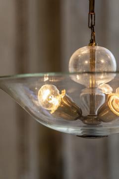 Elegant Glass and Brass Pendant - 1453025