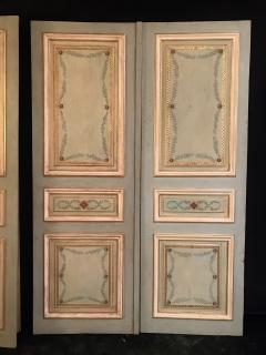 Elegant Pair of 19th Century Italian Painted Doors or Panelling - 1211676