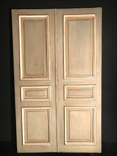 Elegant Pair of 19th Century Italian Painted Doors or Panelling - 1211677