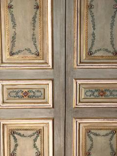 Elegant Pair of 19th Century Italian Painted Doors or Panelling - 1211680
