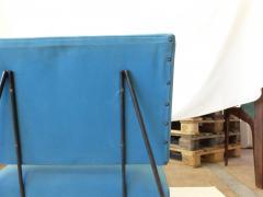 Elegant Pair of Modernist Armchairs I Lush Blue Upholstery - 940270