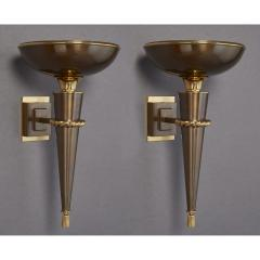 Elegant Pair of Torchere Sconces France 1950s - 1930312
