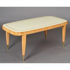 Elegant Reeded Coffee Table Italy 1950s - 352732