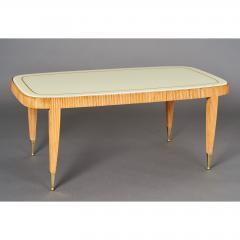 Elegant Reeded Coffee Table Italy 1950s - 352733