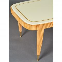 Elegant Reeded Coffee Table Italy 1950s - 352734
