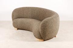 Elegant Three Seat Danish Curved Sofa from 1940s New Upholstery - 1247747