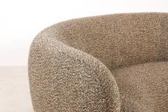 Elegant Three Seat Danish Curved Sofa from 1940s New Upholstery - 1247750