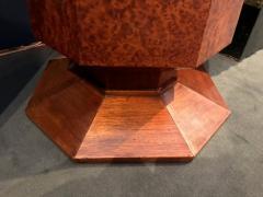 Elegant french Art Deco period burled wood pedestal - 907674