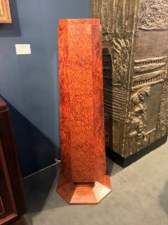 Elegant french Art Deco period burled wood pedestal - 907675