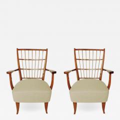 Elegant pair of Italian 1940s armchairs - 755082