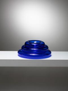 Eleonore Peduzzi Riva Pomeri Blue Glass Centerpieces by Eleonore Peduzzi Riva for Vistosi - 1044924