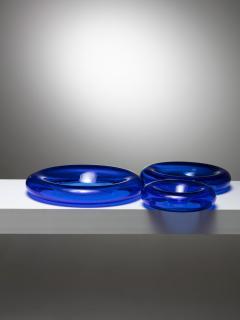 Eleonore Peduzzi Riva Pomeri Blue Glass Centerpieces by Eleonore Peduzzi Riva for Vistosi - 1044925