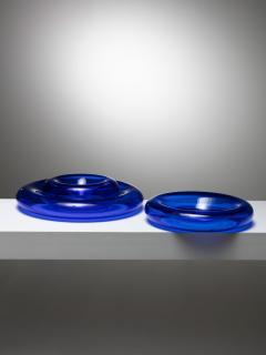 Eleonore Peduzzi Riva Pomeri Blue Glass Centerpieces by Eleonore Peduzzi Riva for Vistosi - 1044928